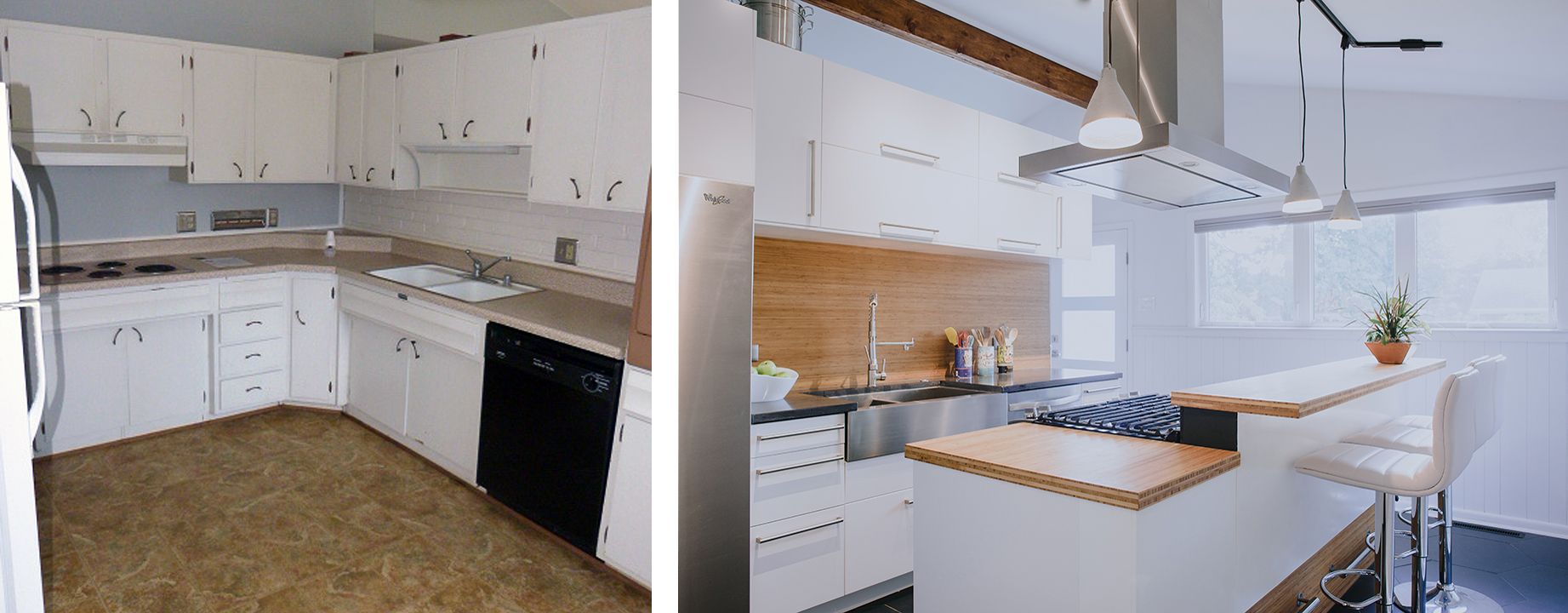 Idle House Modern Kitchen Before and After